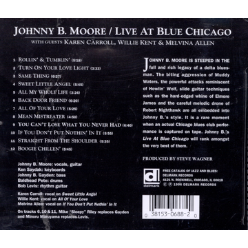 MOORE,JOHNNY B. Live at Blue Chicago