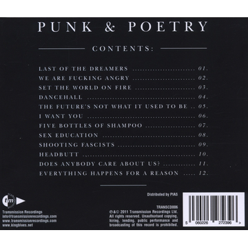 King Blues,The Punk & Poetry