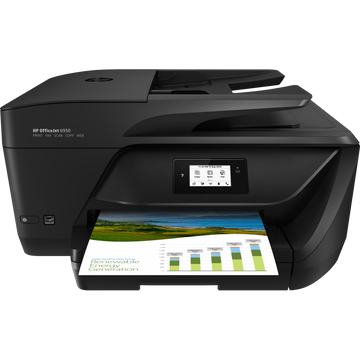 HP OfficeJet 6950, Thermal inkjet, Colour printing, 4800 x 1200 DPI, A4, Direct printing, Black