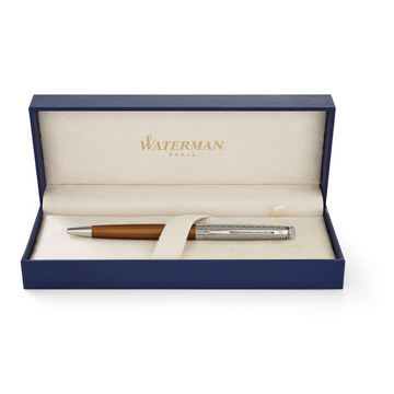Waterman Hemisphere Bronze Satine, Clip, Twist retractable ballpoint pen, Blue