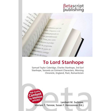 Betascript Publishing To Lord Stanhope
