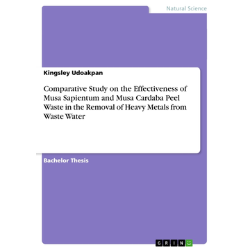 Udoakpan, Kingsley Comparative Study on the Effectiveness of Musa Sapientum and Musa Cardaba Peel Waste in the Removal of Heavy Metals from Waste Water