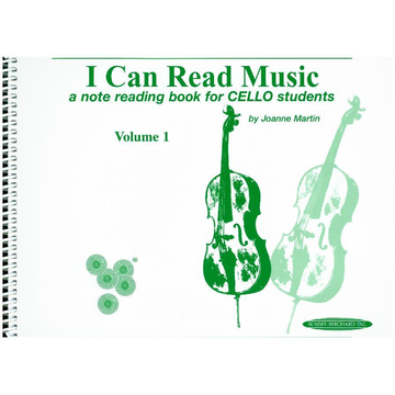 Joanne Martin I Can Read Music, Volume 1 - A note reading book for CELLO students