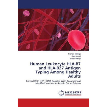 Millinga, Francis Human Leukocyte HLA-B7 and HLA-B27 Antigen Typing Among Healthy Adults - Primed With HIV-1 DNA Boosted With Recombinant Modified Vaccinia Ankara in Dar es Salaam