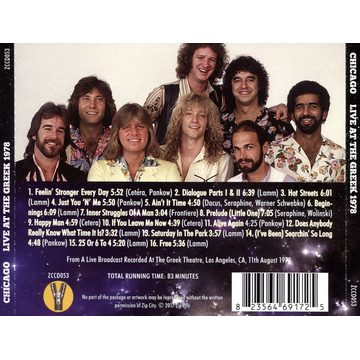 Chicago Live at the Greek 1978