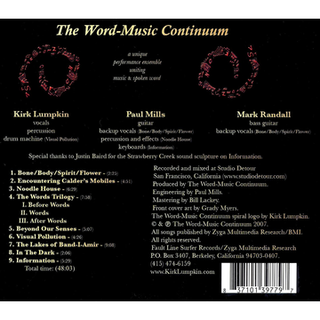 The Word-Music Continuum Sound Poems