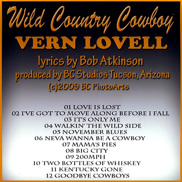 Vern Lovell Wild Country Cowboy