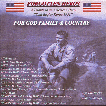 J.B. Begley God, Family and Country