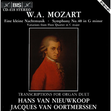 Oortmerssen,Jacques van Mozart: Transcriptions for Organ Duet