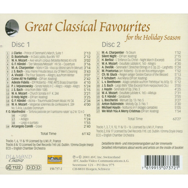 English Chamber Orchestra - Great Classical Favourites For The Holiday Season