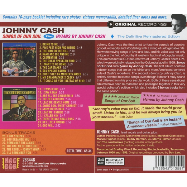Cash,Johnny - Songs Of Our Soil/Hymns By J.Cash