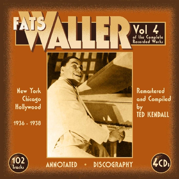 Waller,Fats - Complete Recorded Works, Vol. 4: New York Chicago Hollywood
