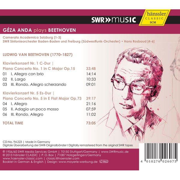 Anda,Geza - Geza Anda plays Beethoven