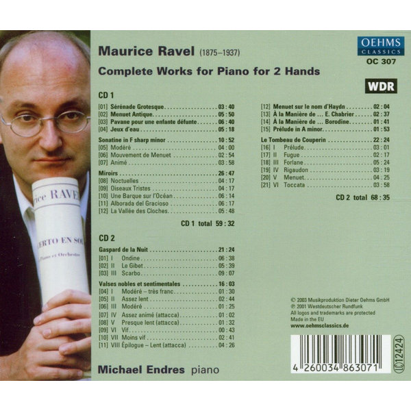 ENDRES,MICHAEL - Complete Works For Piano 2 Hands