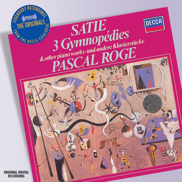 Rogé,Pascal Satie: 3 Gymnopédies and Other Piano Works