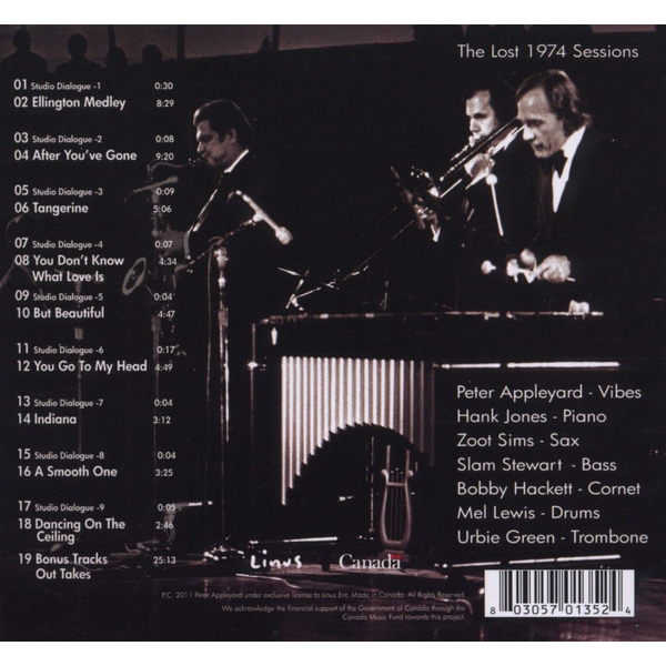 Appleyard,Peter And The Jazz - Lost 1974 Sessions