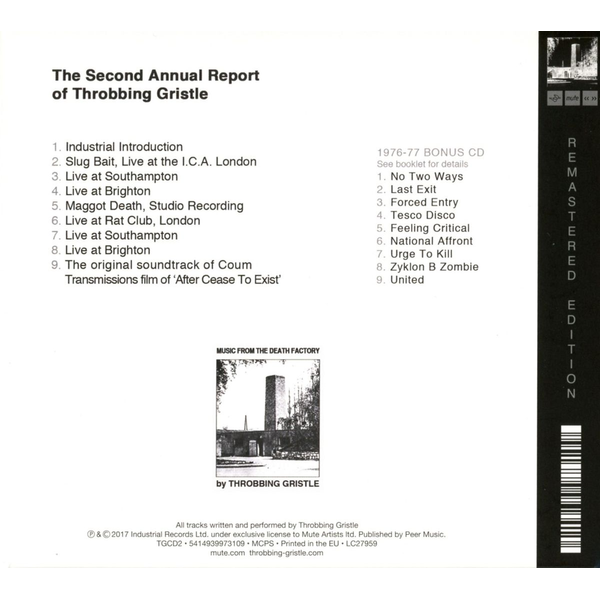 Throbbing Gristle - The Second Annual Report Of Throbbing Gristle/2CD