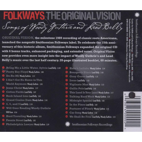 Guthrie,Woody And Lead Belly - Folkways: The Original Vision