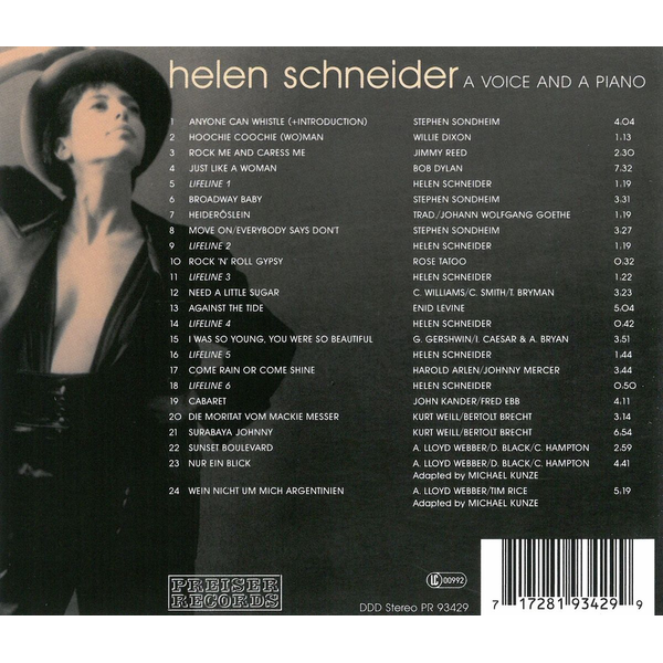 Schneider,Helen - A Voice And A Piano