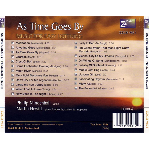 Phillip Mindenhall,Martin Hewitt - As time goes by