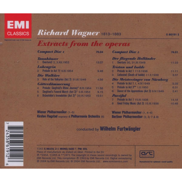 Flastad - Wagner: Extracts from the Operas