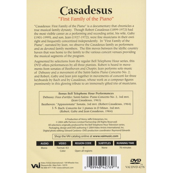 Casadesus,R. - First Family Of The Piano