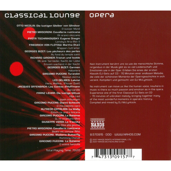 Various - Classical Lounge: Opera