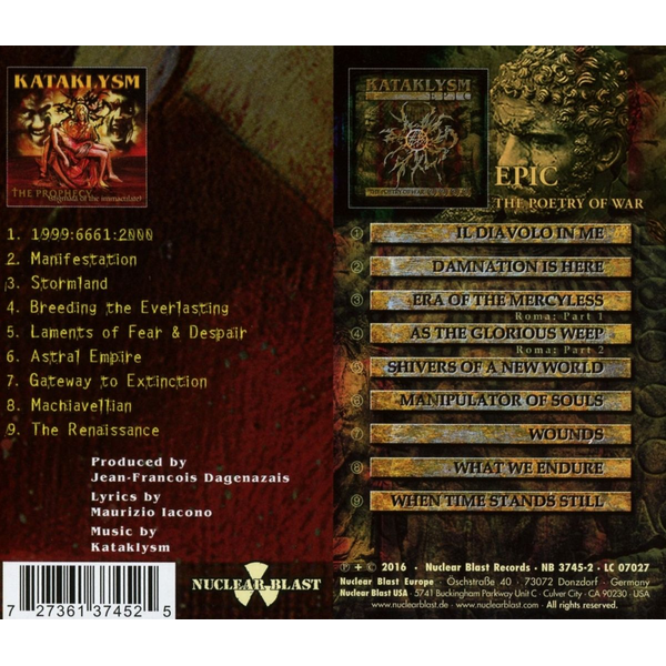 Kataklysm - Prophecy/Epic: The Poetry of War