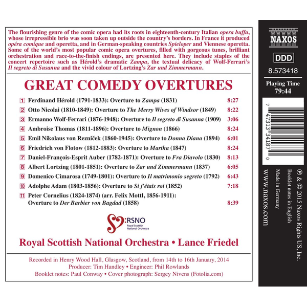 Friedel,Lance - Great Comedy Overtures