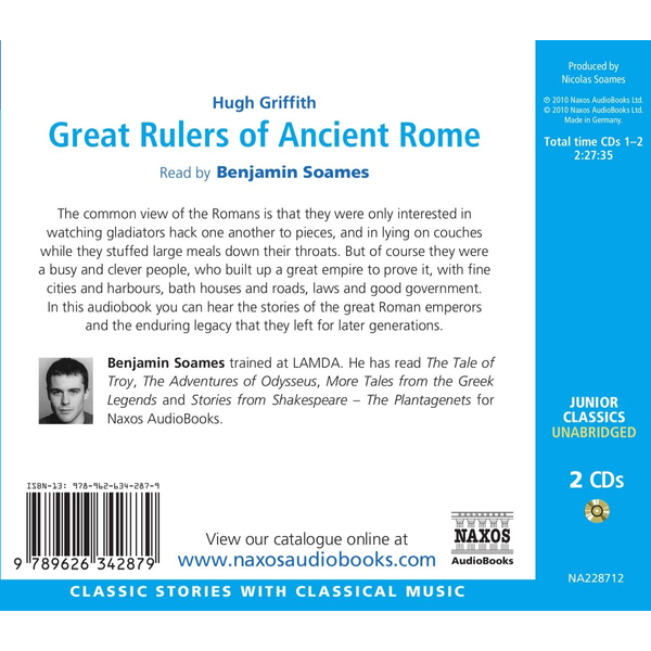 Griffith, Hugh - Great Rulers Of Ancient Rome