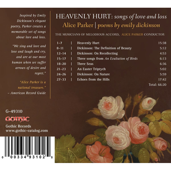 Parker,Alice - Alice Parker: Heavenly Hurt - Poems by Emily Dickinson