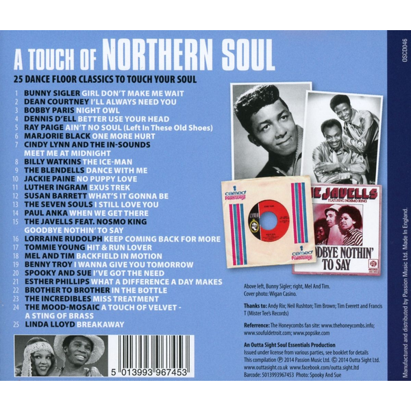 Various - A Touch Of Northern Soul
