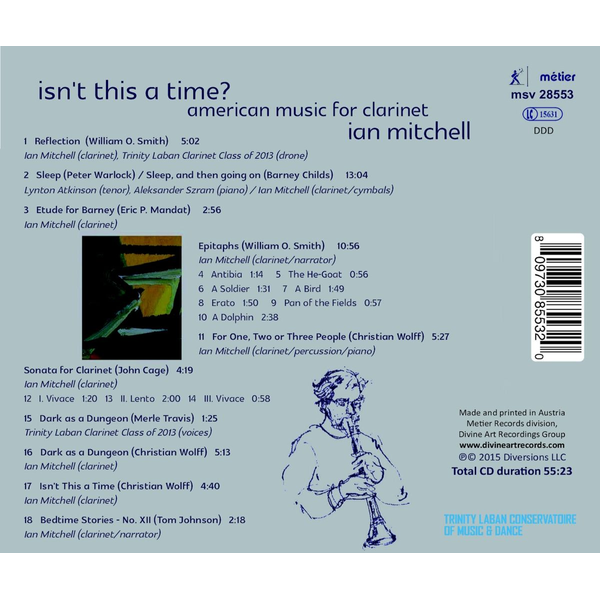 Mitchell,Ian - Isn't This a Time? American Music for Clarinet
