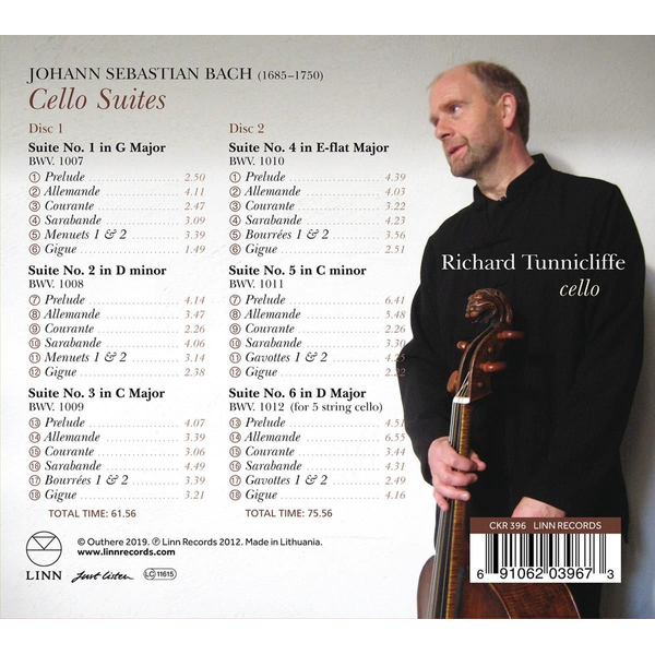 Tunnicliffe,Richard - Bach: Cello Suites