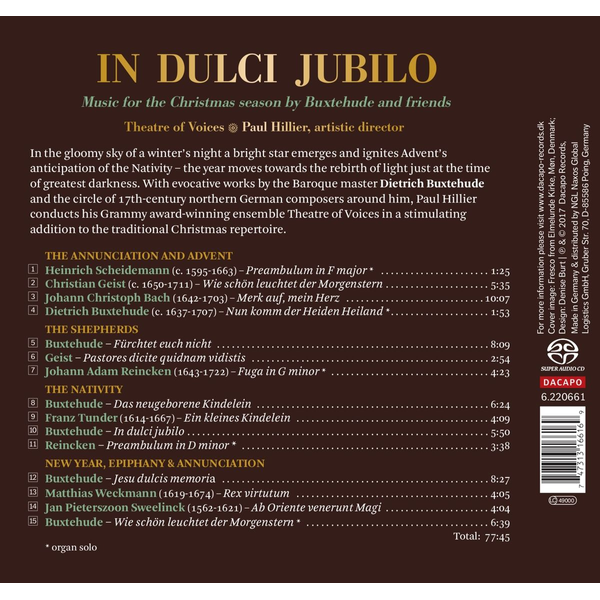 Hillier,Paul - In Dulci Jubilo: Music for the Christmas Season by Buxtehude and Friends