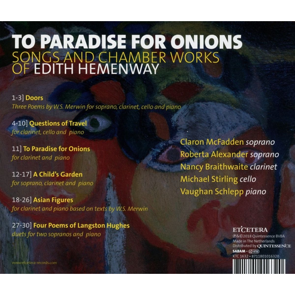 McFadden,Claron - To Paradise for Onions: Songs and Chamber Works of Edith Hemenway