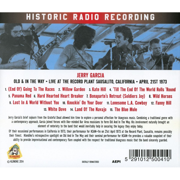 Garcia,Jerry Old & In The Way-Live At The Record Plant Sausal