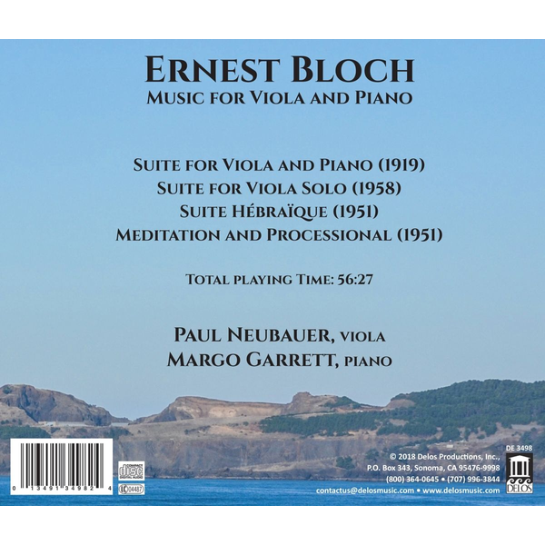 Neubauer,Paul - Ernest Bloch: Music for Viola and Piano