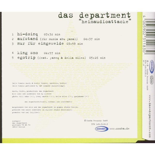 DEPARTMENT,DAS - HEIMAUDIOATTACKE