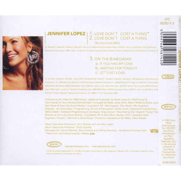 LOPEZ,JENNIFER - LOVE DON'T COST A THING