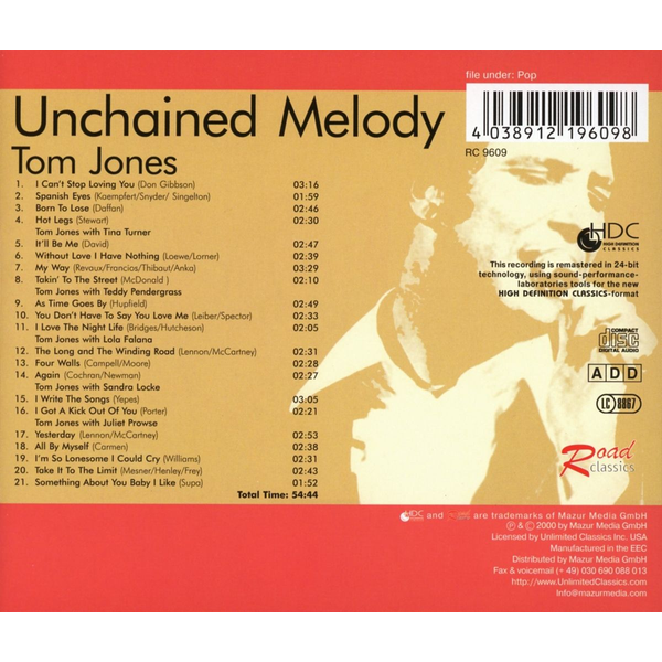 Jones,Tom - Unchained Melody