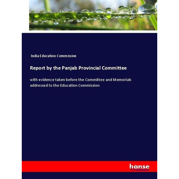 India Education Commission - Report by the Panjab Provincial Committee