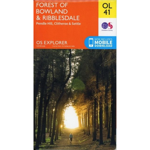 Ordnance Survey - Forest of Bowland & Ribblesdale, Pendle Hill, Clitheroe & Settle