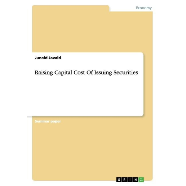 Javaid, Junaid - Raising Capital Cost Of Issuing Securities