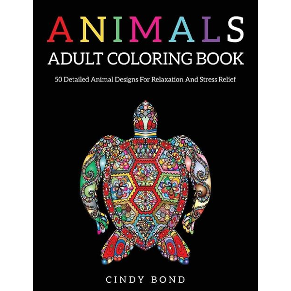 Bond, Cindy - Animals Adult Coloring Book