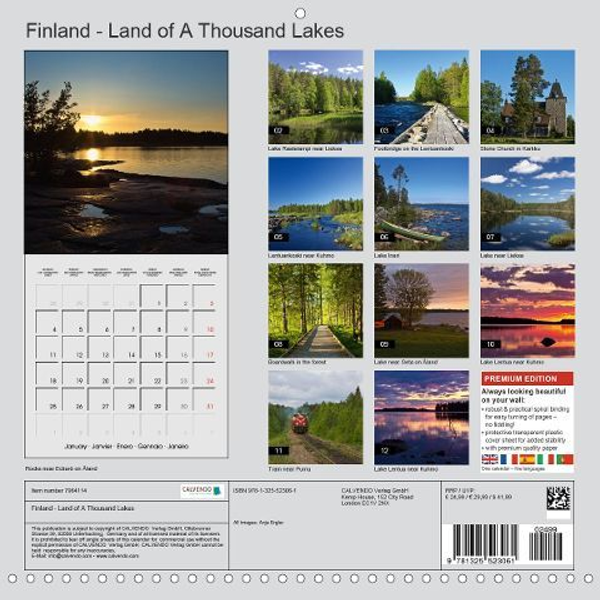 Ergler, Anja - Finland - Land of a Thousand Lakes (Wall Calendar 2021 300 × 300 mm Square)