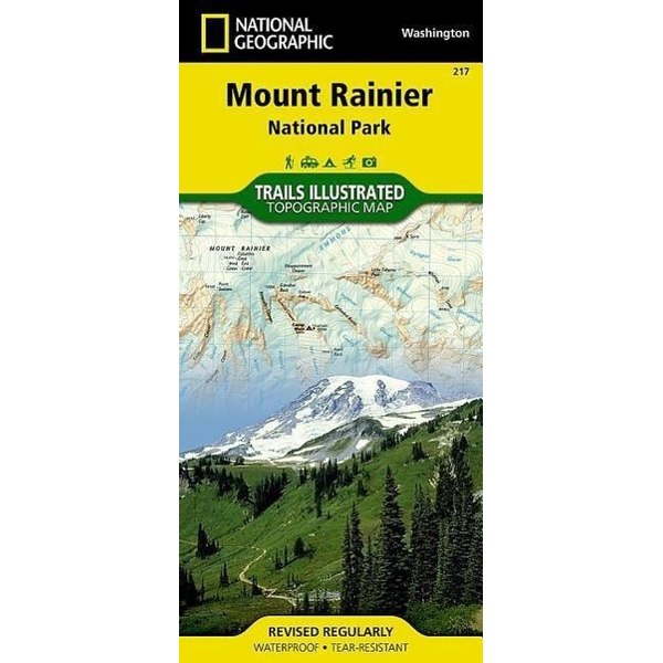 National Geographic Maps - Mount Rainier National Park, WA - National Geographic Trails Illustrated National Parks