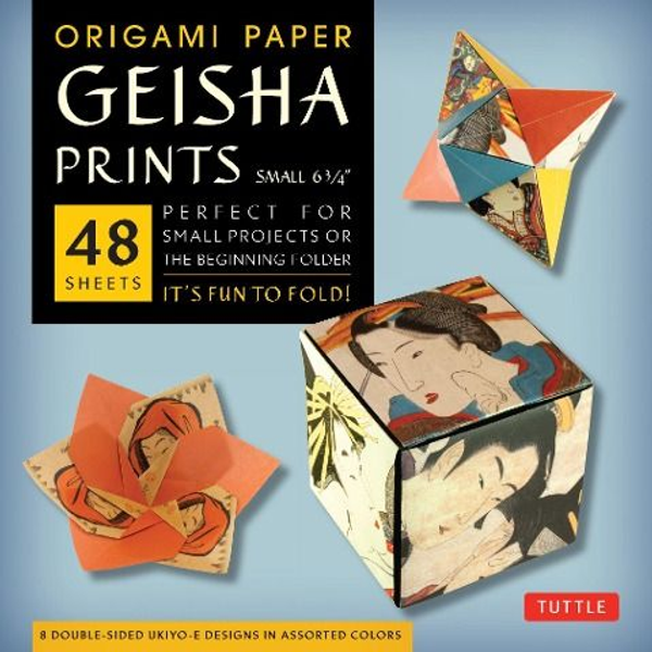 """- Origami Paper Geisha Prints 48 Sheets 6 3/4"""" (17 CM): Large Tuttle Origami Paper: High-Quality Origami Sheets Printed with 8 Different Designs (Instru"""