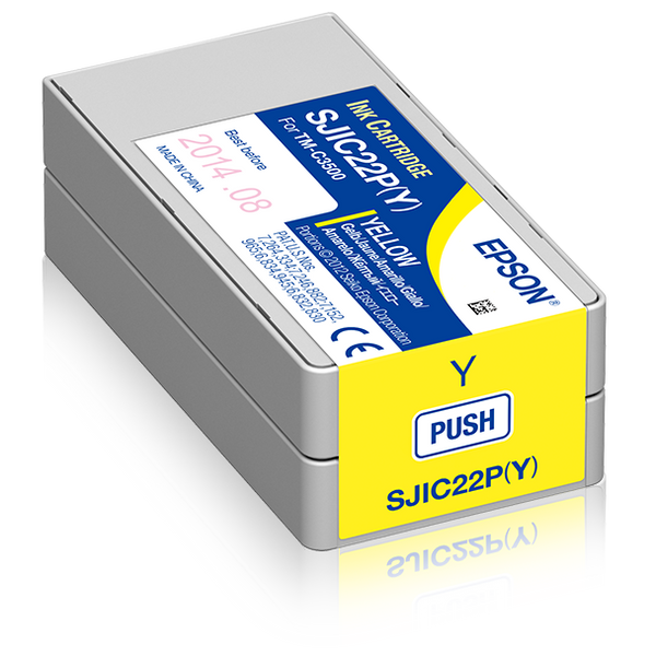 Epson - Epson SJIC22P(Y): Ink cartridge for ColorWorks C3500 (yellow)