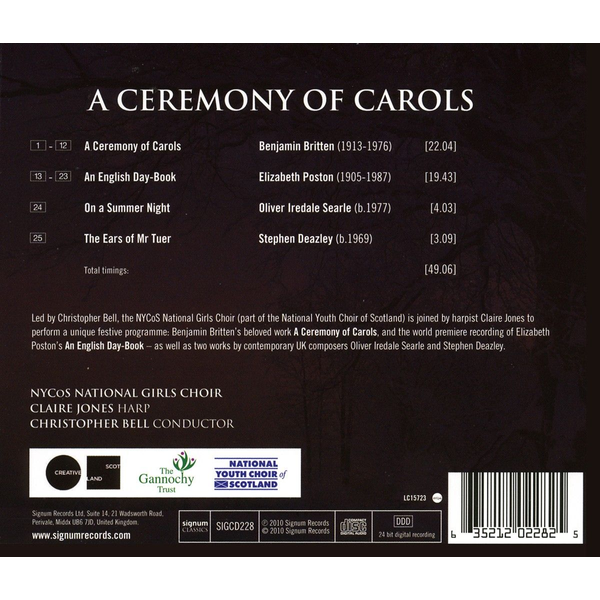 Bell/Jones/Nycos National Girls Choir - A Ceremony Of Carols/An English Day Book